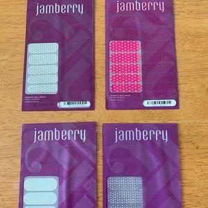 Jamberry Nail Wraps - 4 new sets